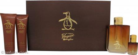 Original Penguin Original Penguin Set de Regalo 100ml EDT Vaporizador + 90ml Bálsamo Aftershave + 90ml Gel de Ducha + 7.5ml EDT Mini