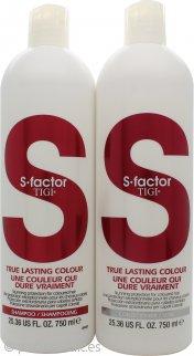 Tigi Duo Pack S-Factor True Lasting Colour 750ml Champú + 750ml Acondicionador