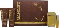 Eden Classic Mandate Set de Regalo 100ml EDT Vaporizador + 15ml EDT Mini Vaporizador + 150ml Bálsamo Aftershave + 150ml Gel de Baño y Ducha