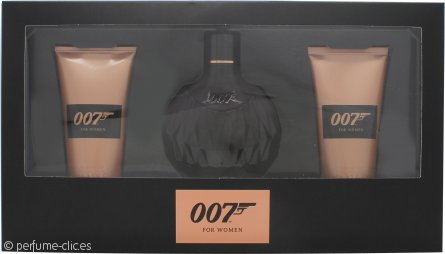 James Bond 007 for Women Set de Regalo 50ml EDP + 50ml Gel de Ducha + 50ml Loción Corporal