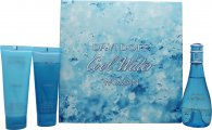Davidoff Cool Water Set de Regalo 100ml EDT + 75ml Loción Corporal + 75ml Gel de Ducha