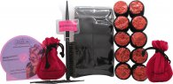 Sleep In Rollers Glitter Black And Red Set de Regalo 20 Pinzas + Cepillo + DVD