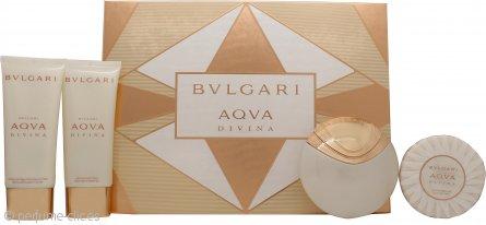 Bvlgari Aqva Divina Set de Regalo 65ml EDT + 100ml Gel de Ducha + 100ml Loción Corporal + 150g Jabón