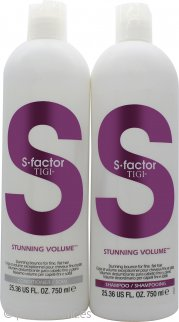 Tigi Duo Pack S-Factor Stunning Volume 750ml Champú + 750ml Acondicionador