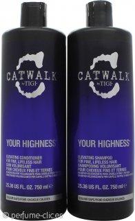 Tigi Catwalk Your Highness Pack Dúo 750ml Champú + 750ml Acondicionador