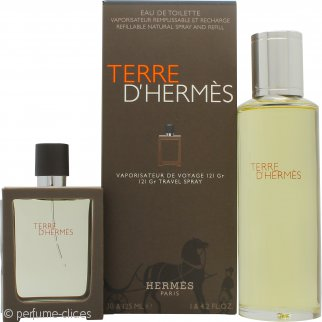 Hermes Terre D'Hermes Set de Regalo 30ml EDT Rellenable + 125ml EDT Recambio
