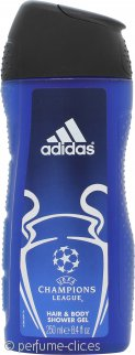 Adidas Champions League Gel de Ducha Pelo y Cuerpo 250ml