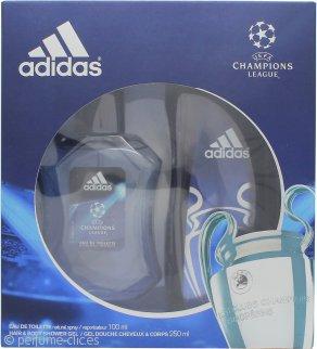 Adidas Uefa Champions League Edition Set de Regalo 100ml EDT + 250ml Gel de Ducha