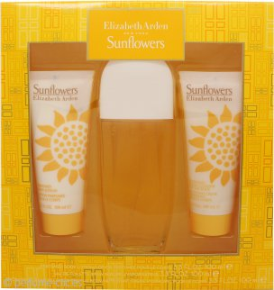 Elizabeth Arden Sunflowers Set de Regalo 100ml EDT + 100ml Loción Corporal + 100ml Crema Limpiadora