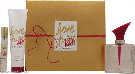 Nine West Love Fury Kiss Set de Regalo 100ml EDP + 100ml Loción Corporal + Mini EDP