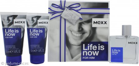 Mexx Life Is Now for Him Set de Regalo 50ml EDT + 2 x 50ml Gel de Ducha