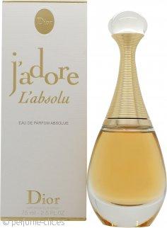 Christian Dior J'adore L'absolu Eau de Parfum 75ml Vaporizador