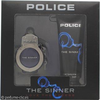 Police The Sinner Set de Regalo 30ml EDT + 100ml Champú Corporal