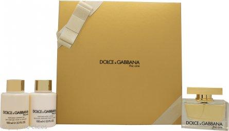 Dolce & Gabbana The One Set de Regalo 75ml EDP + 100ml Loción Corporal + 100ml Gel de Ducha