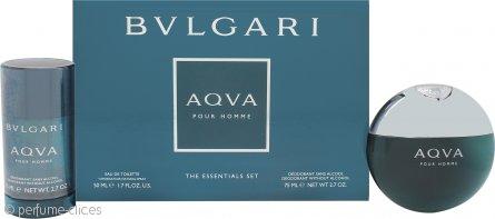 Bvlgari Aqva Pour Homme Set de Regalo 50ml EDT + 75ml Desodorante en Barra