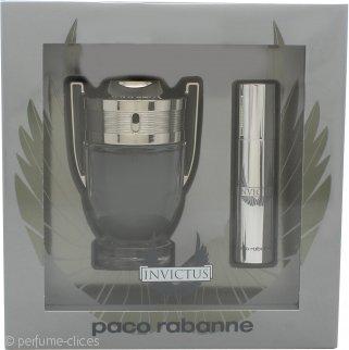 Paco Rabanne Invictus Set de Regalo 50ml EDT + 10ml EDT Vaporizador de Viaje