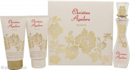 Christina Aguilera Woman Set de Regalo 30ml EDP + 50ml Loción Corporal + 50ml Gel de Ducha