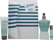 Jean Paul Gaultier Le Beau Male Set de Regalo 125ml EDT Vaporizador + 75ml Gel de Ducha + 9ml EDT