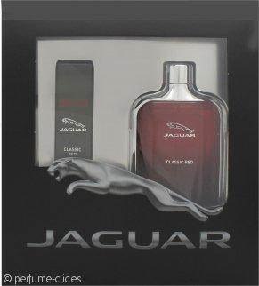 Jaguar Classic Red Set de Regalo 100ml EDT + 15ml EDT Vaporizador de Viaje