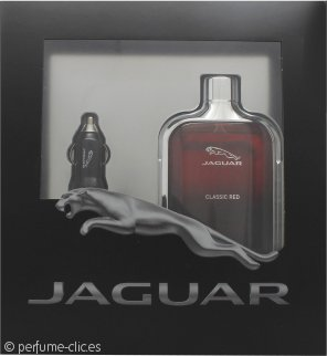 Jaguar Classic Red Set de Regalo 100ml EDT + Cargador USB para Coche