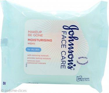 Johnson & Johnson Face Toallitas Limpiadoras Faciales Cuidado Hidratante 25 Unidades - Pieles Secas