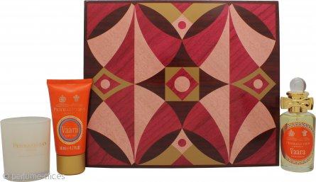 Penhaligon's Vaara Set de Regalo 50ml EDP Vaporizador + 50ml Crema de Manos + 70g Vela