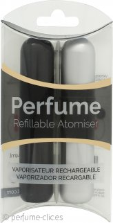Pressit Refillable Perfume Atomiser Pack Dúo - Black & Silver