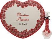 Christina Aguilera Red Sin Set de Regalo 30ml EDP + Caja Corazón Latón