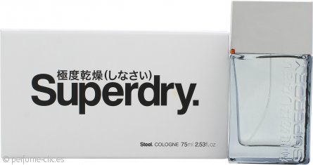 Superdry Steel Eau de Cologne 75ml Vaporizador