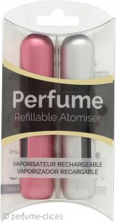 Pressit Refillable Perfume Atomiser Pack Dúo - Silver & Pink