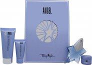 Thierry Mugler Angel Set de Regalo 25ml EDP + 30ml Gel de Ducha Perfumado + 100ml Loción Corporal Perfumada + 15ml Crema Corporal Perfumada