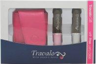 Travalo Fragrance Vaporisateur Pure Set de Regalo 2 x Travalo Vaporizadores (Rosa/Plata) + Estuche