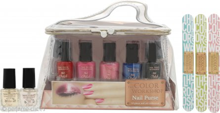 The Color Workshop Nail Art Set de Regalo 10 x Esmalte de Uñas + Bolsa