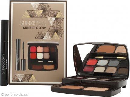 Sunkissed Sunset Glow Set de Regalo 6 x 1.3g Sombra de Ojos + 2 x 0.8g Bálsamos Labiales + 3.8g Polvo Bronceador + 3.8g Resaltador + 5.5ml Rímel Negro + Aplicador