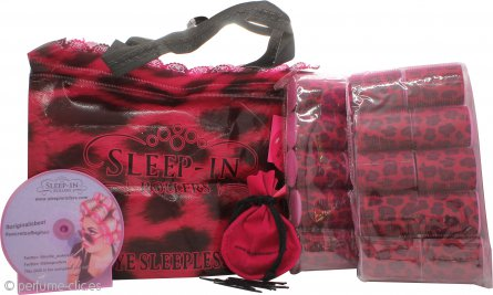 Sleep In Rollers Original Pink Set de Regalo 20 Rulos + Bolsa de Enganches + Cepillo + Tutorial DVD