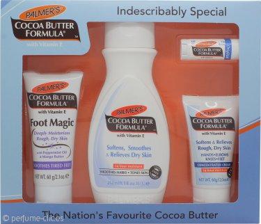 Palmer's Cocoa Butter Formula Set de Regalo 250ml Loción Corporal + 60g Magia Pies + 60g Crema Concentrada + Bálsamo Labial