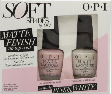 OPI Soft Shades Matt Pink & White Dúo Set de Regalo 2 x 15ml Esmalte de Uñas