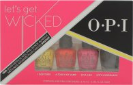 OPI Let's Get Wicked Set de Regalo 4 x 3.75ml Mini Esmalte de Uñas (I Don't Bite + A Touch of Vamp + Diva-Ush + Kitty Loves Black)