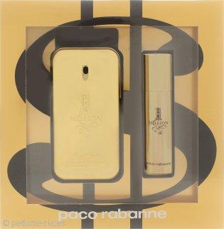 Paco Rabanne 1 Million Set de Regalo 50ml EDT + 10ml EDT Vaporizador de Viaje