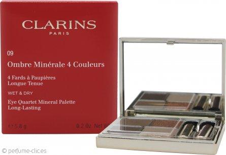 Clarins Ombre Minerale Paleta Cuarteto de Ojos Mineral de Larga Duración 5.8g - Odyssey 09