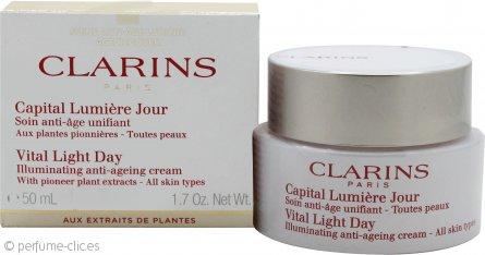 Clarins Vital Light Crema Confort Iluminadora de Día Anti-Edad 50ml Todo Tipo de Pieles