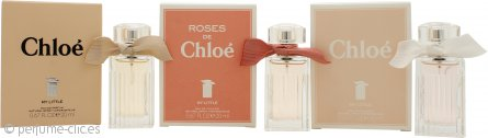 Chloe My Little Chloes Trio Fragrance Set de Regalo 20ml Chloe My Little Eau de Parfum + 20ml Chloe My Little Eau de Toilette + 20ml Roses de Chloe My Little Eau de Toilette