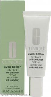 Clinique Even Better City Block Crema Anti Polución 30ml FPS40 Todo Tipo de Pieles