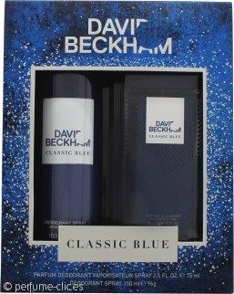 David Beckham Classic Blue Set de Regalo 150ml Desodorante Vaporizador Corporal + 75ml Perfume Desodorante Vaporizador