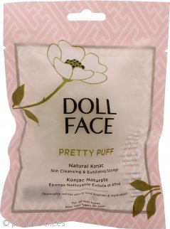 Doll Face Pretty Puff Natural Konjac Skin Esponja Limpiadora y Exfoliante