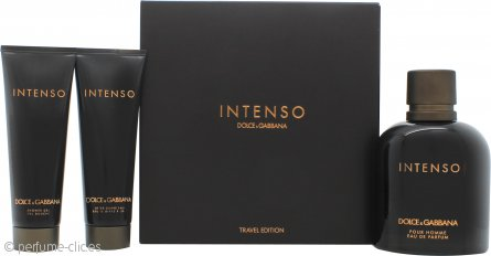 Dolce & Gabbana Pour Homme Intenso Set de Regalo 125ml EDP + 50ml Bálsamo Aftershave + 50ml Gel de Ducha
