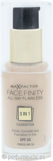 Max Factor Facefinity All Day Flawless 3 en 1 Base SPF20 30ml - 30 Porcelain