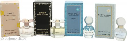 Marc Jacobs Daisy Set de Regalo 4 x 4ml (Daisy + Daisy Eau So Fresh + Daisy Dream + Daisy Dream Forever)