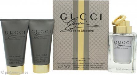 Gucci Made to Measure Set de Regalo 90ml EDT Vaporizador + 50ml Bálsamo Aftershave + 50ml Champú Total