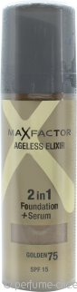 Max Factor Ageless Elixir Base 2 en 1 + Serum 30ml Oro 75